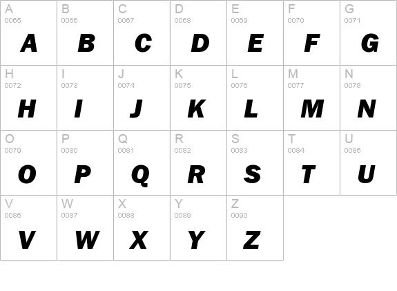 FontsMarket com - Details of Franklin Gothic Heavy Italic font