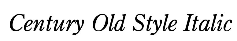 Fontsmarket Com Download Century Old Style Italic Font For Free