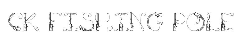 FontsMarket.com - Download CK Fishing Pole font for FREE | 775 x 136 png 5kB