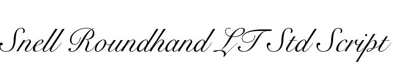 snell roundhand lt std black script